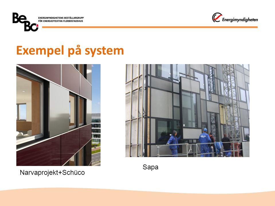 Exempel på system Sapa Narvaprojekt+Schüco