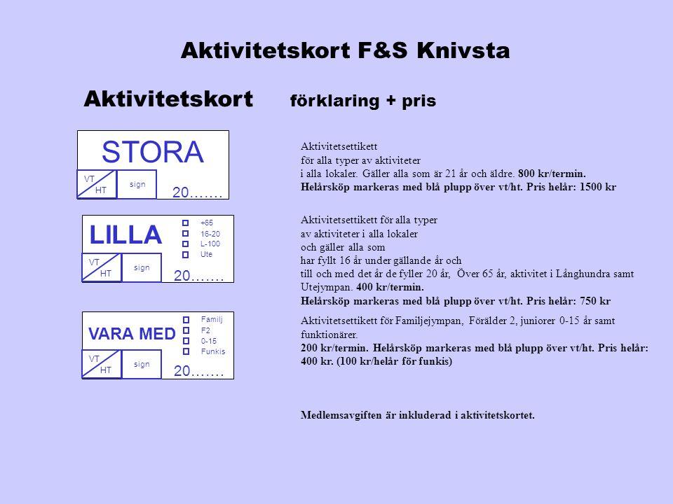 Aktivitetskort F&S Knivsta