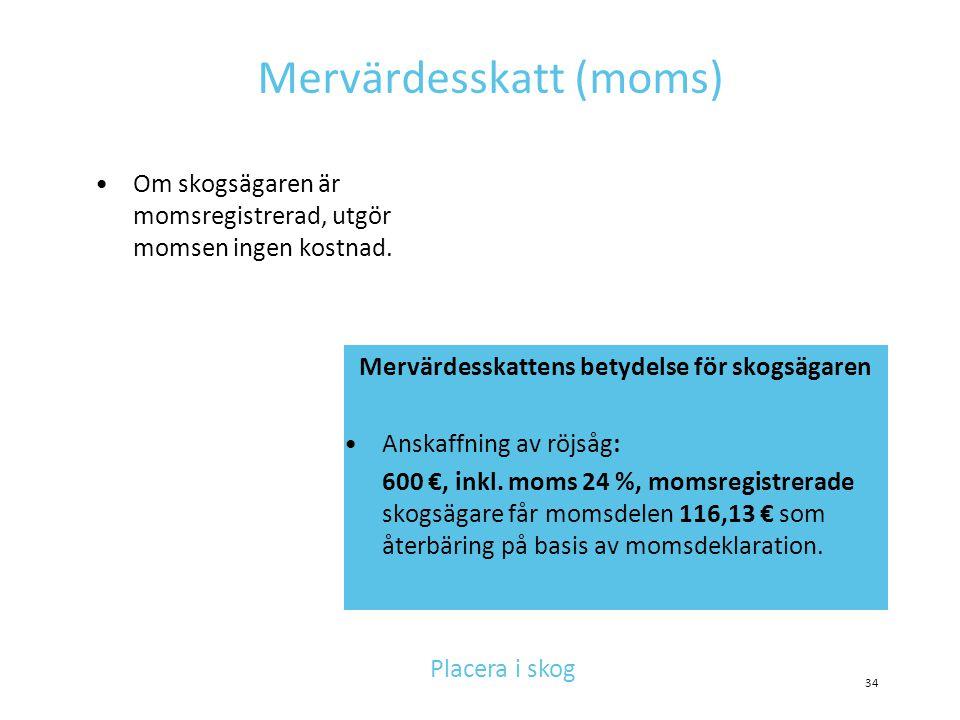 Mervärdesskatt (moms)