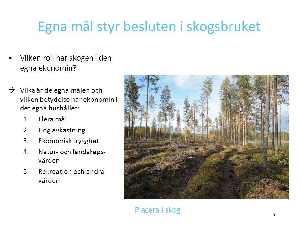 Egna mål styr besluten i skogsbruket