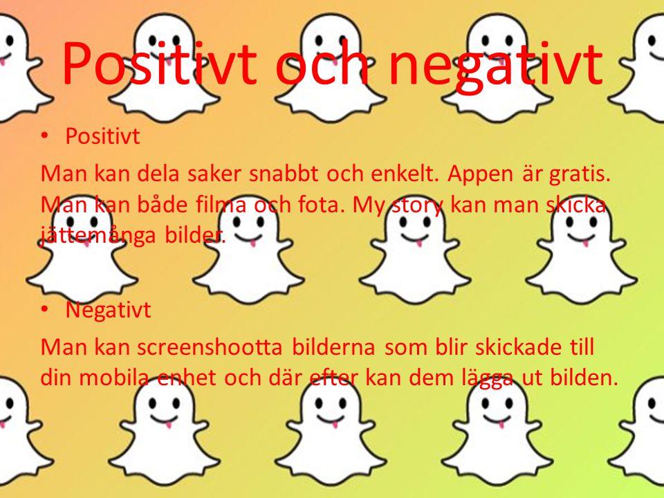 Positivt och negativt Positivt