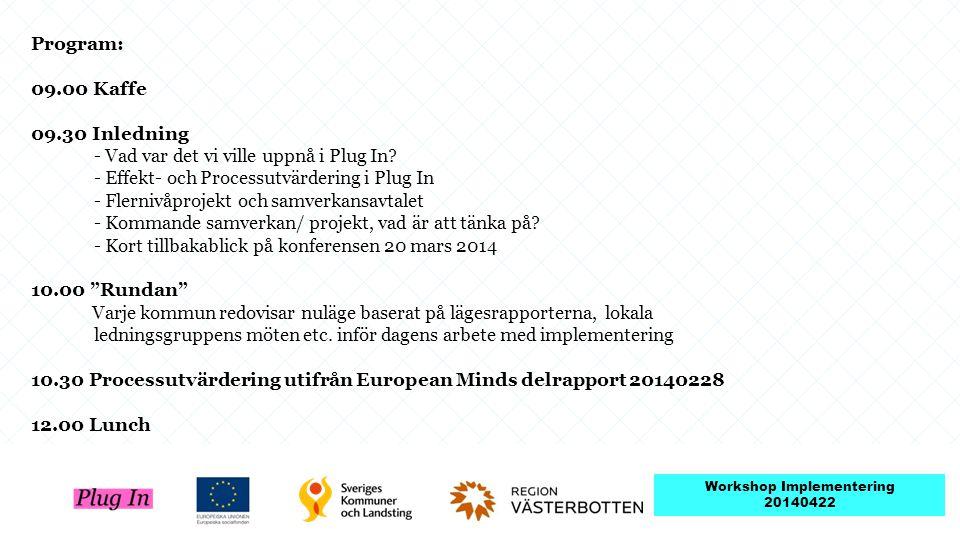 Workshop Implementering