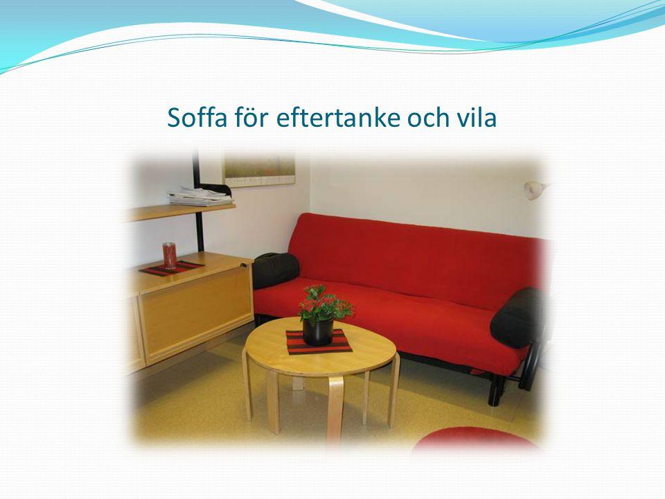 Soffa för eftertanke och vila