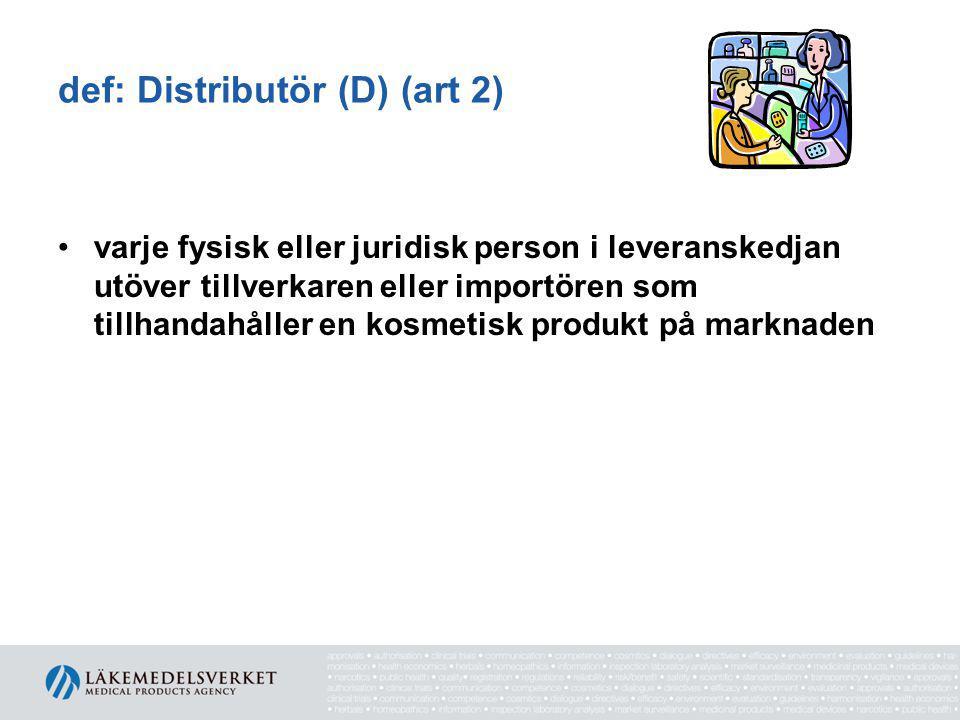 def: Distributör (D) (art 2)