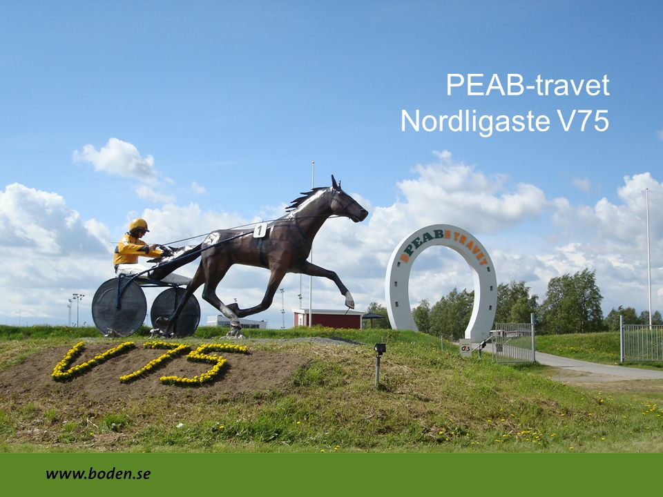PEAB-travet Nordligaste V75