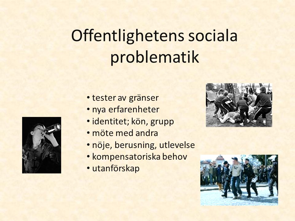 Offentlighetens sociala problematik