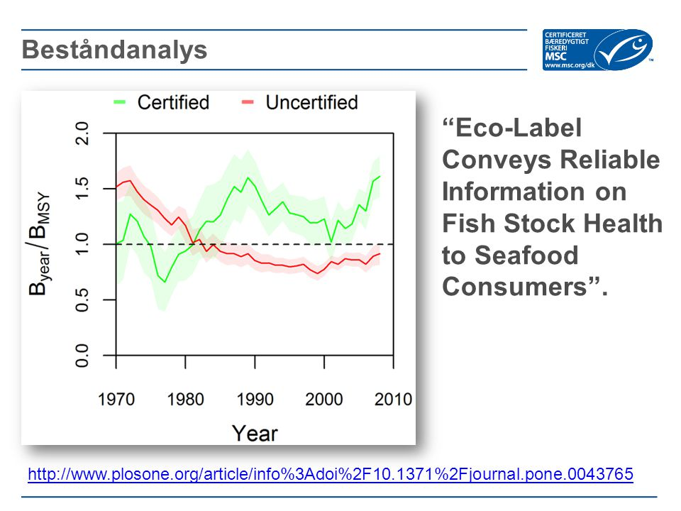 Beståndanalys Eco-Label Conveys Reliable Information on Fish Stock Health to Seafood Consumers .