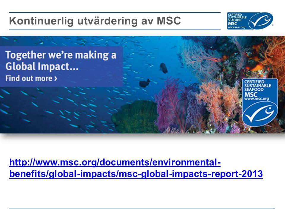 Kontinuerlig utvärdering av MSC