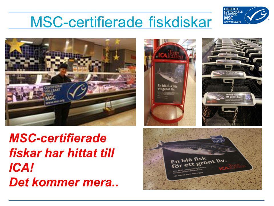 MSC-certifierade fiskdiskar