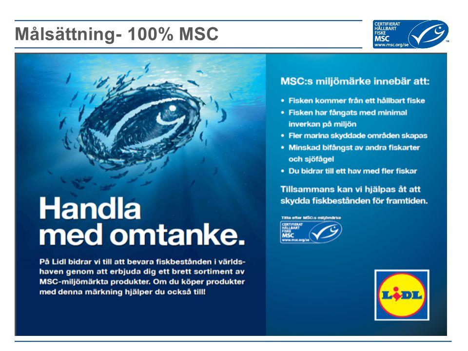 Målsättning- 100% MSC
