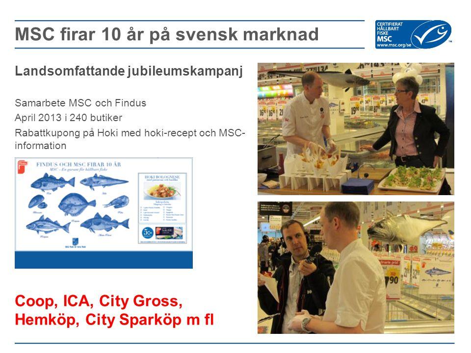 MSC firar 10 år på svensk marknad