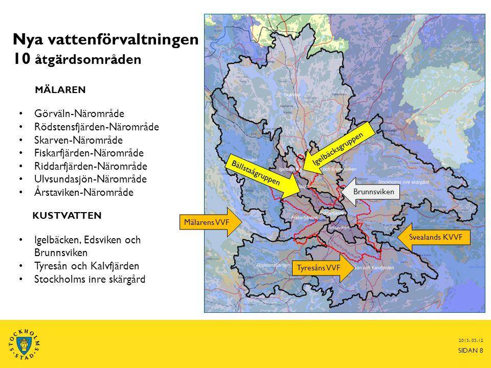 Nya vattenförvaltningen 10 åtgärdsområden