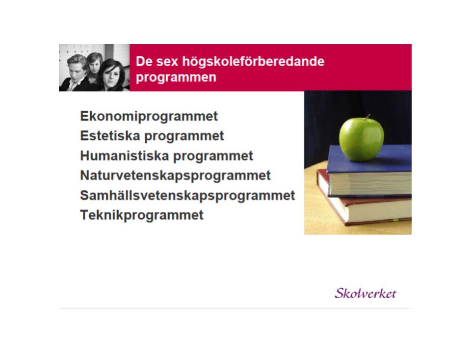 Ekonomiprogrammet –inriktningarna ekonomi och juridik nytt program