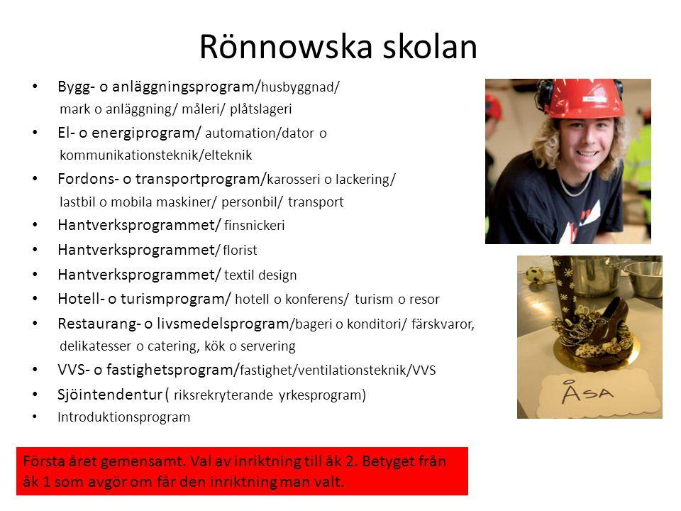Rönnowska skolan Bygg- o anläggningsprogram/husbyggnad/