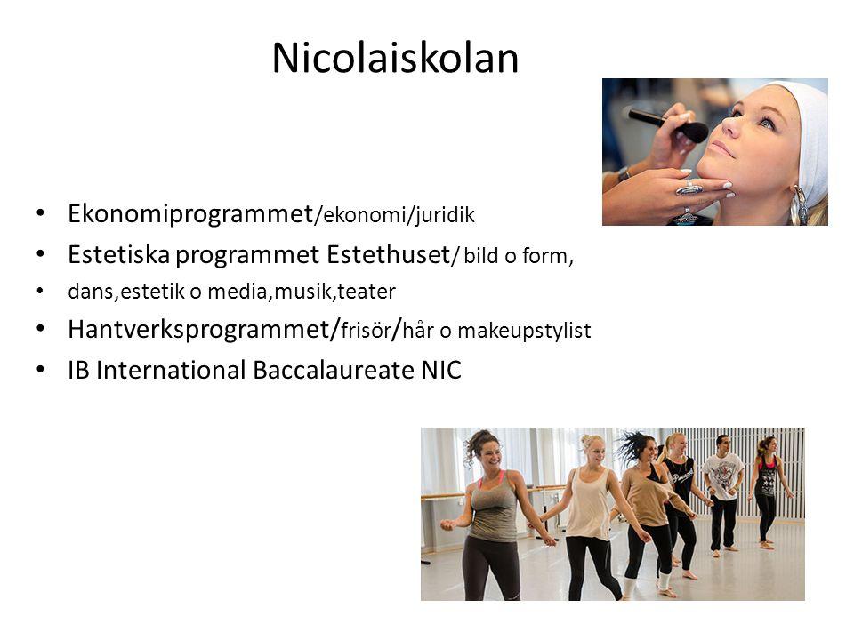 Nicolaiskolan Ekonomiprogrammet/ekonomi/juridik