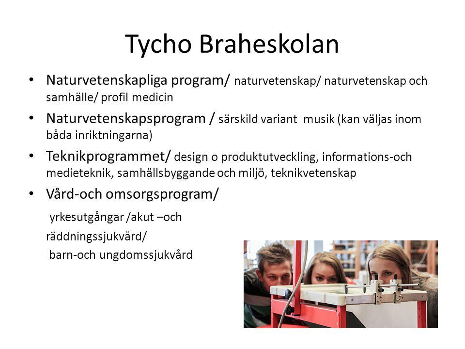 Tycho Braheskolan Naturvetenskapliga program/ naturvetenskap/ naturvetenskap och samhälle/ profil medicin.