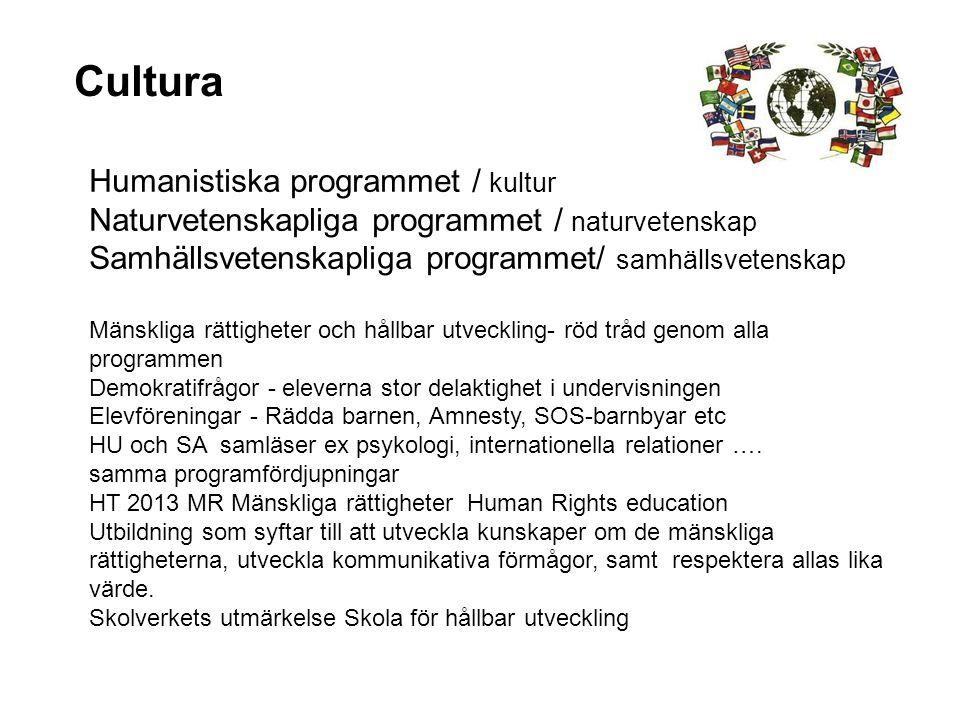 Cultura Humanistiska programmet / kultur