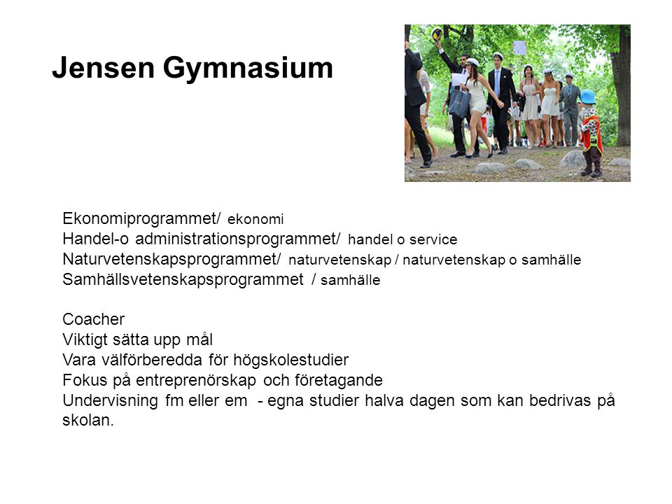 Jensen Gymnasium Ekonomiprogrammet/ ekonomi