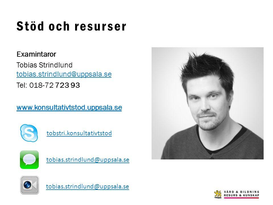 Stöd och resurser www.konsultativtstod.uppsala.se Examintaror