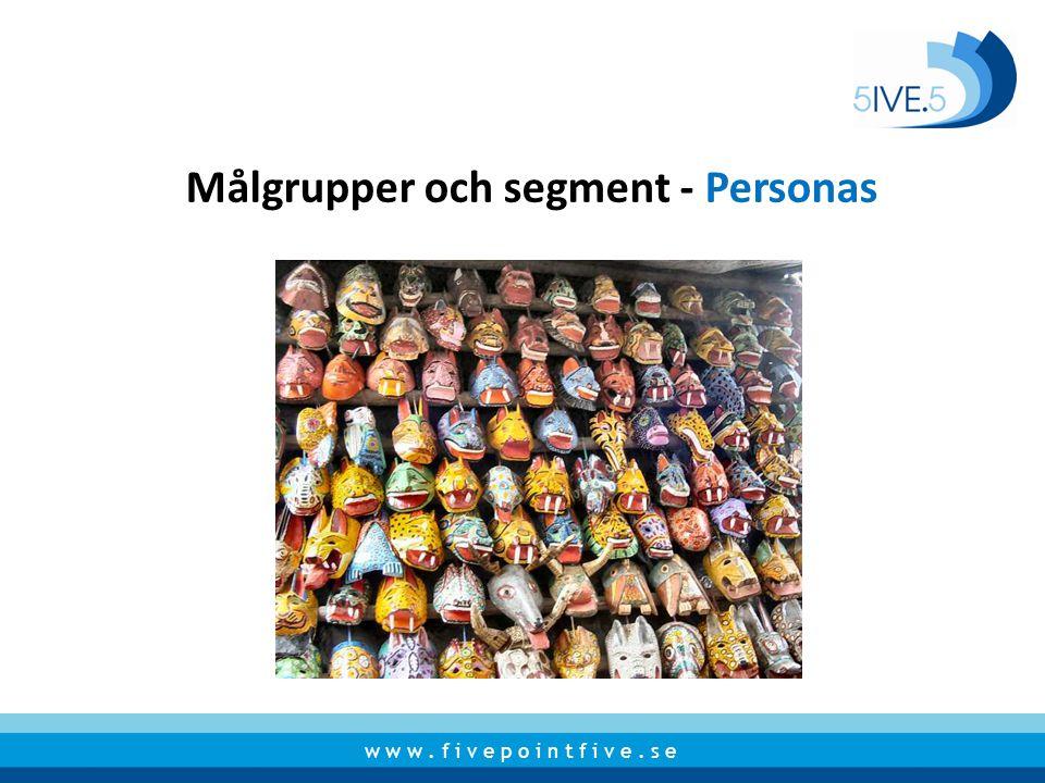 Målgrupper och segment - Personas