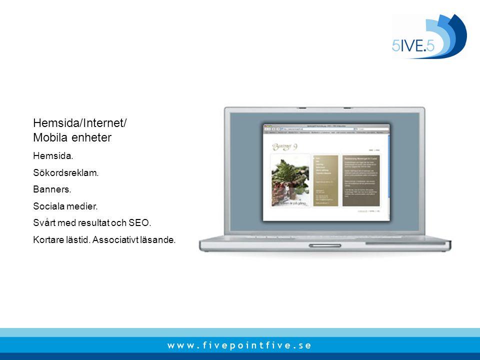 Hemsida/Internet/ Mobila enheter