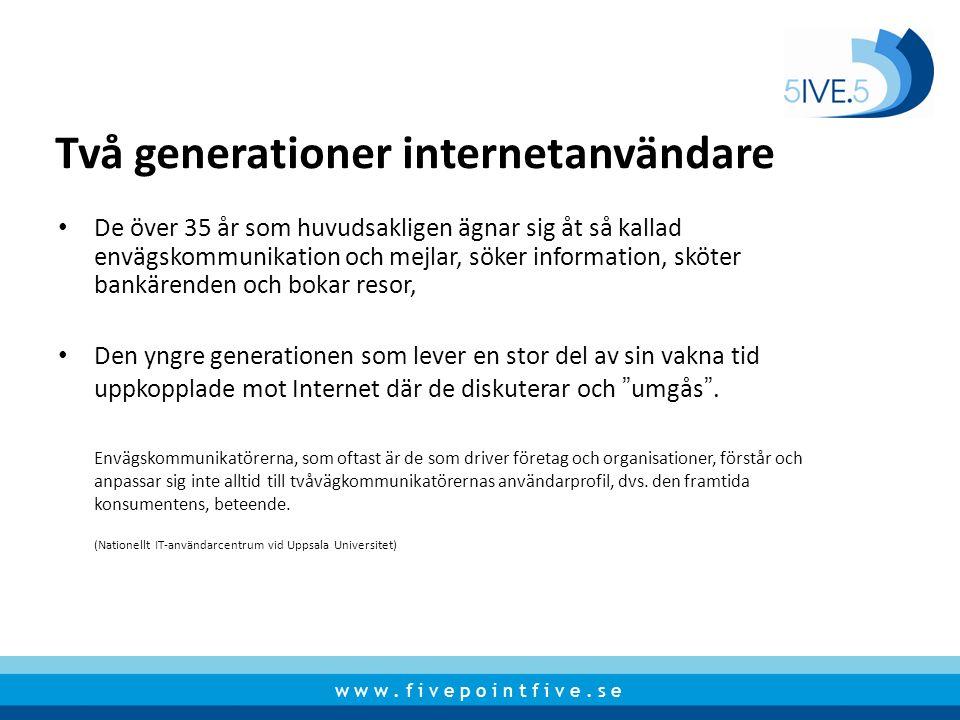 Två generationer internetanvändare