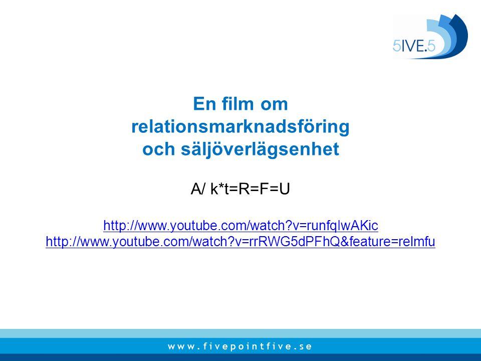 relationsmarknadsföring och säljöverlägsenhet