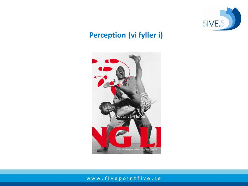 Perception (vi fyller i)