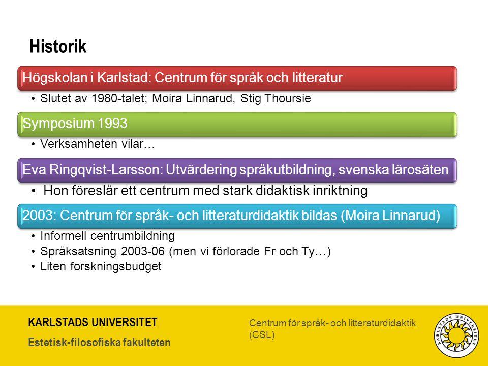 Historik Högskolan i Karlstad: Centrum för språk och litteratur