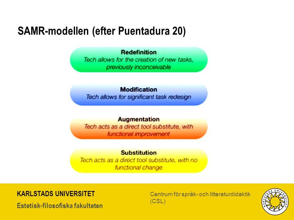 SAMR-modellen (efter Puentadura 20)