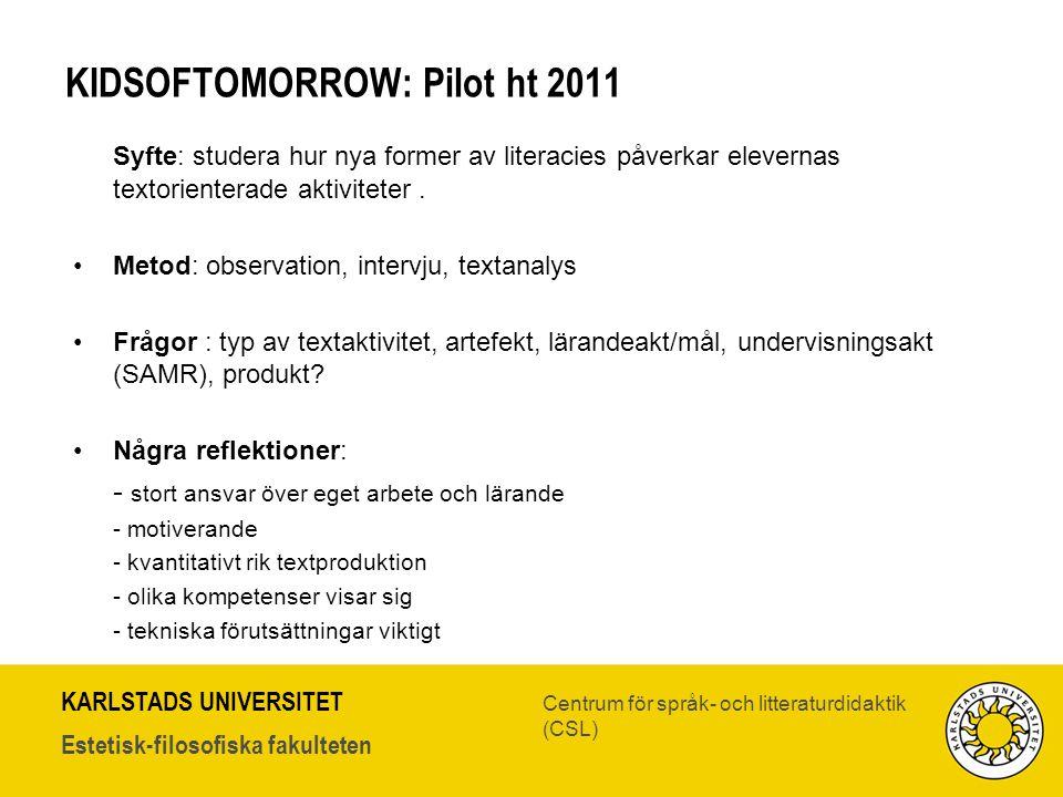 KIDSOFTOMORROW: Pilot ht 2011