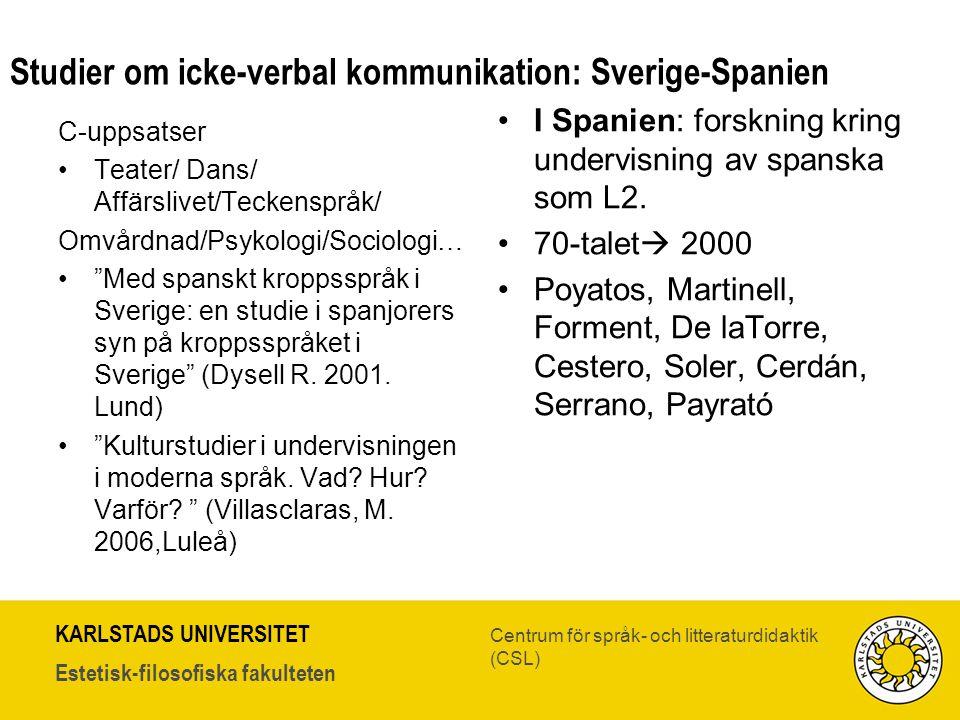 Studier om icke-verbal kommunikation: Sverige-Spanien