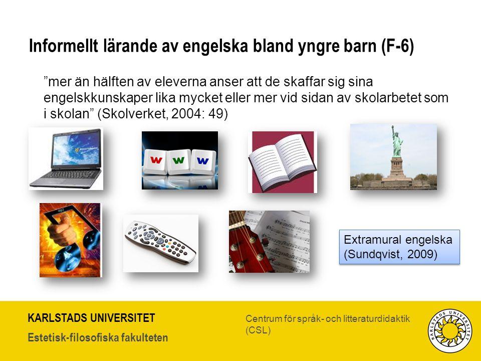 Informellt lärande av engelska bland yngre barn (F-6)