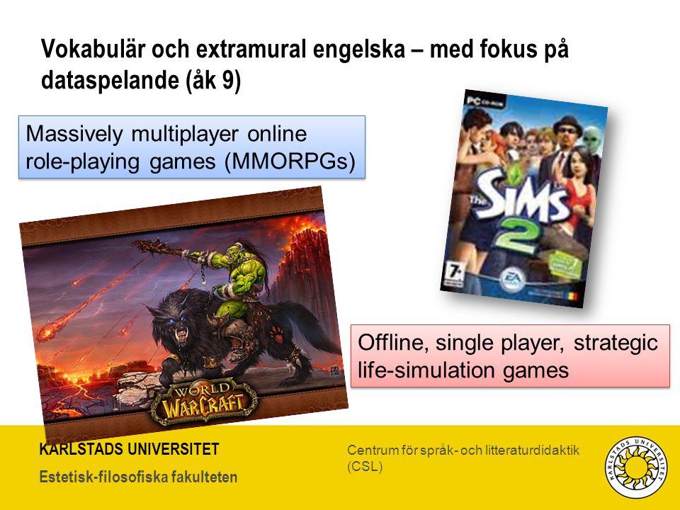 Vokabulär och extramural engelska – med fokus på dataspelande (åk 9)