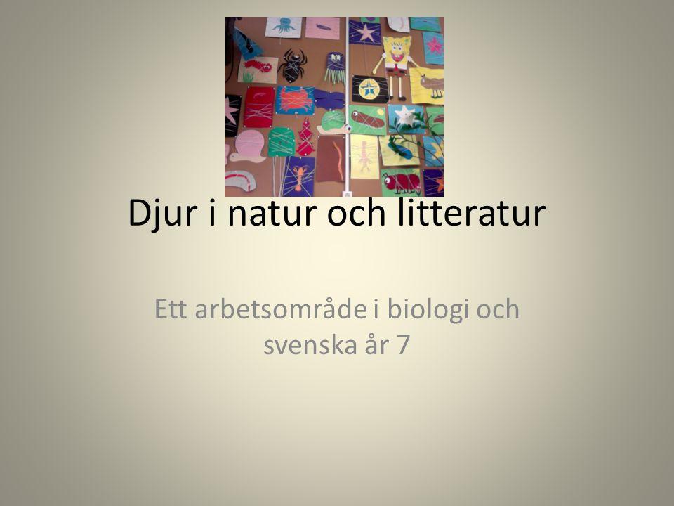 Djur i natur och litteratur