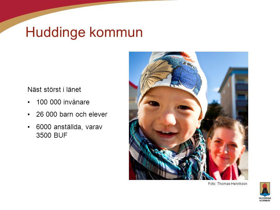 Huddinge kommun Näst störst i länet 100 000 invånare