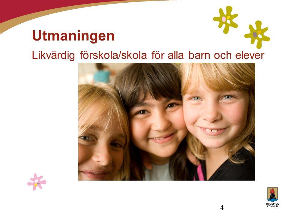 Utmaningen Likvärdig förskola/skola för alla barn och elever