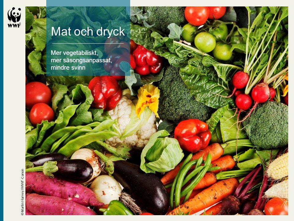 Mat och dryck Mer vegetabiliskt, mer säsongsanpassat, mindre svinn
