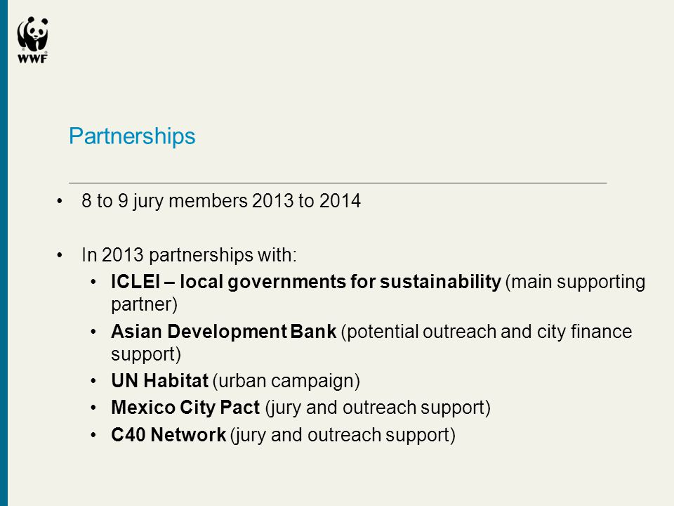 Partnerships 8 to 9 jury members 2013 to 2014