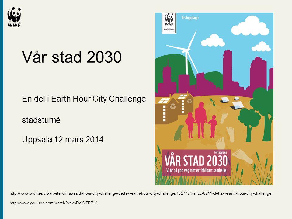 Vår stad 2030. En del i Earth Hour City Challenge. stadsturné