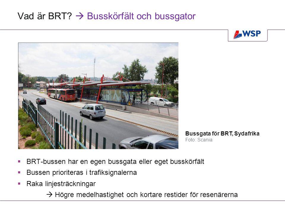 Vad är BRT  Busskörfält och bussgator
