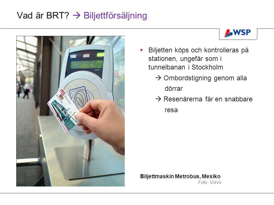 Vad är BRT  Biljettförsäljning