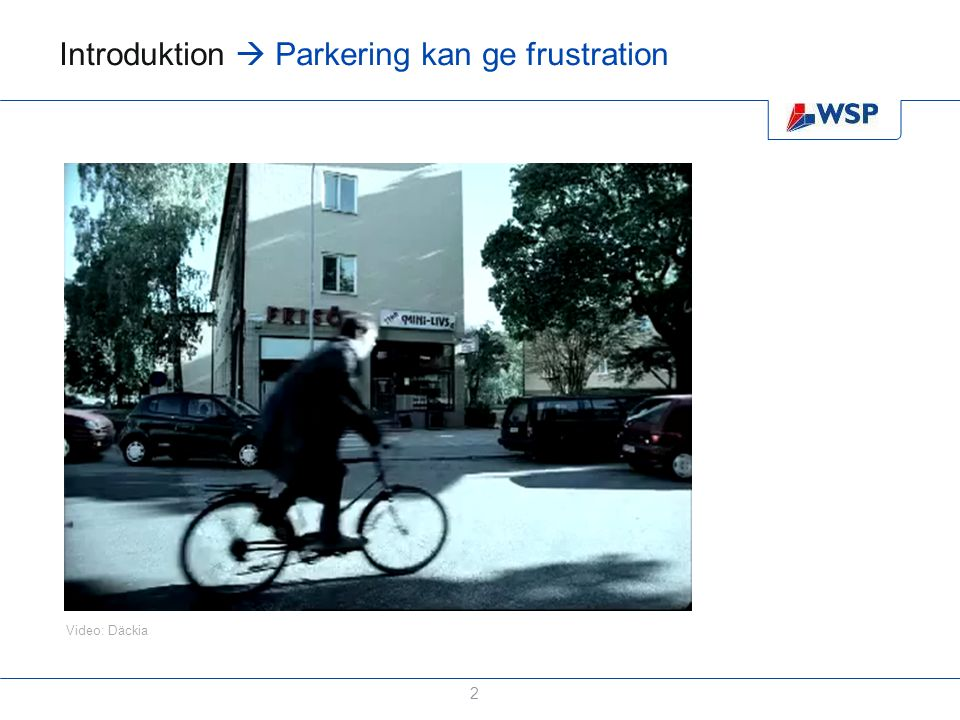 Introduktion  Parkering kan ge frustration