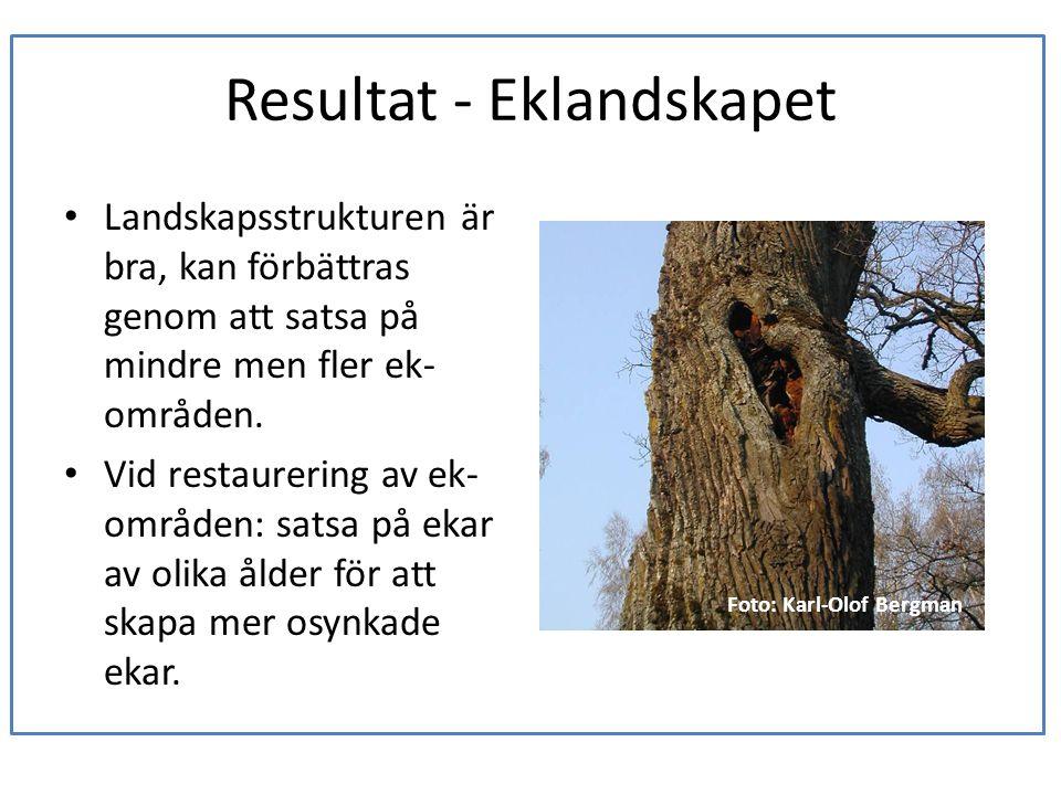 Resultat - Eklandskapet