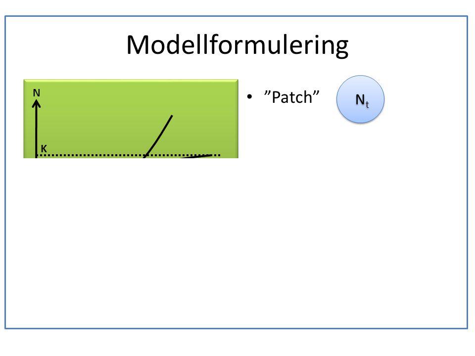 Modellformulering En ek är boplats för en population läderbaggar.