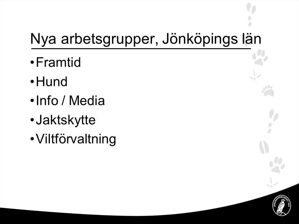 Nya arbetsgrupper, Jönköpings län