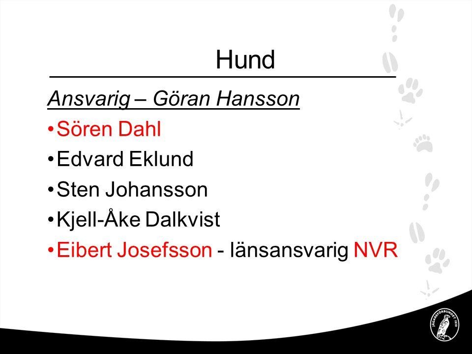 Hund Ansvarig – Göran Hansson Sören Dahl Edvard Eklund Sten Johansson