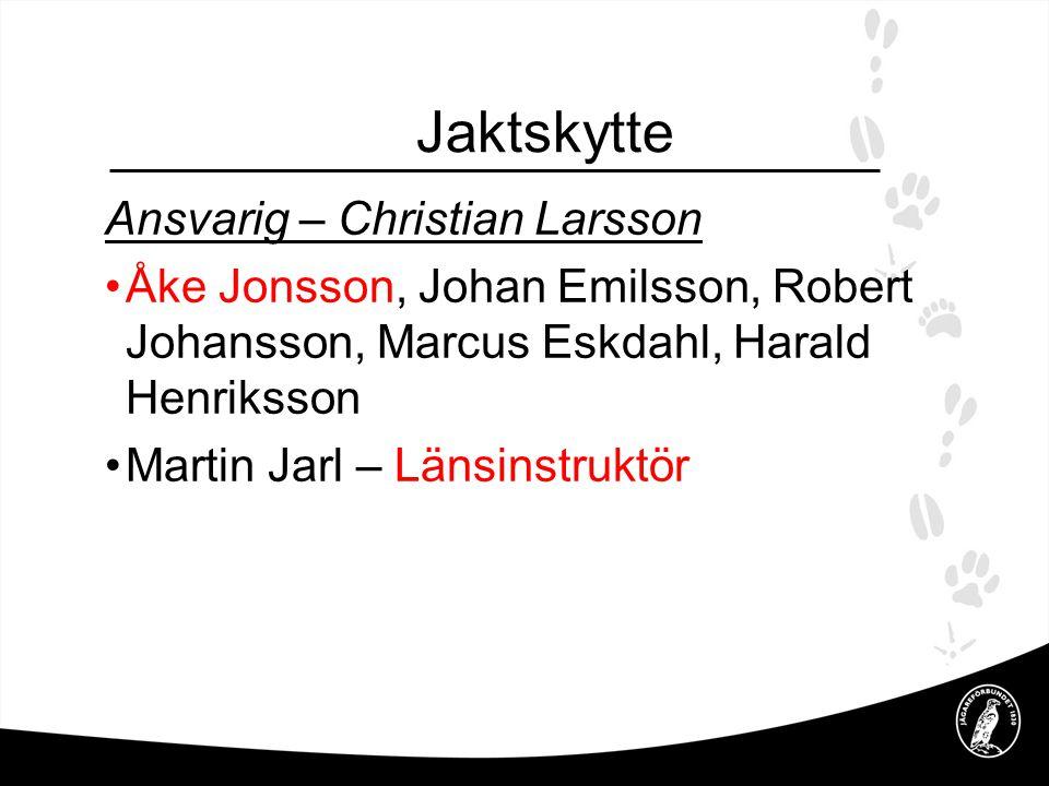 Jaktskytte Ansvarig – Christian Larsson