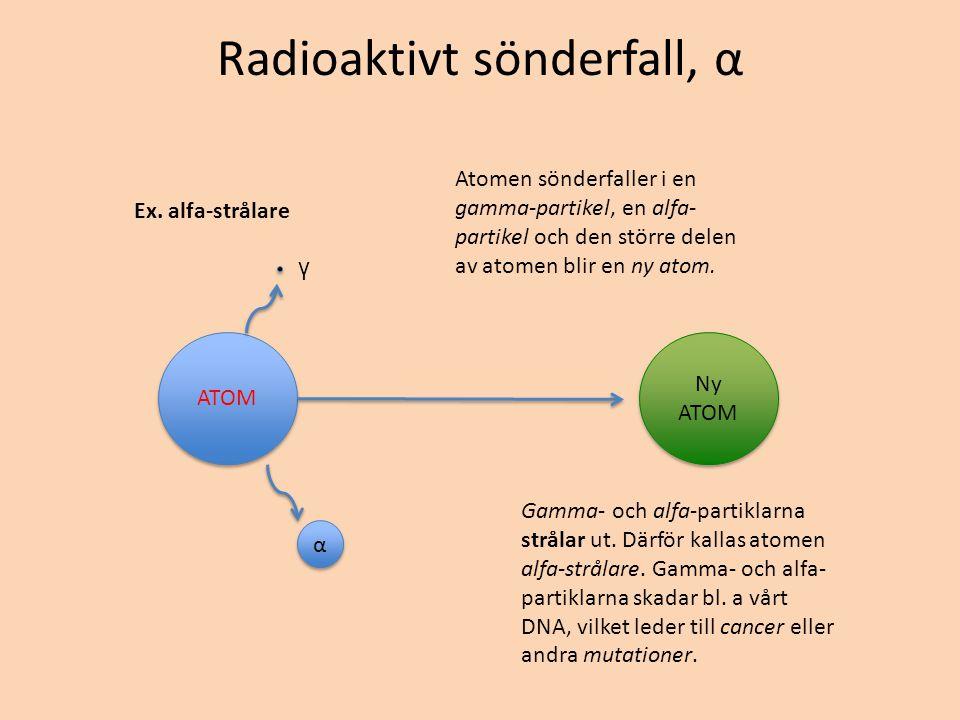 Radioaktivt sönderfall, α