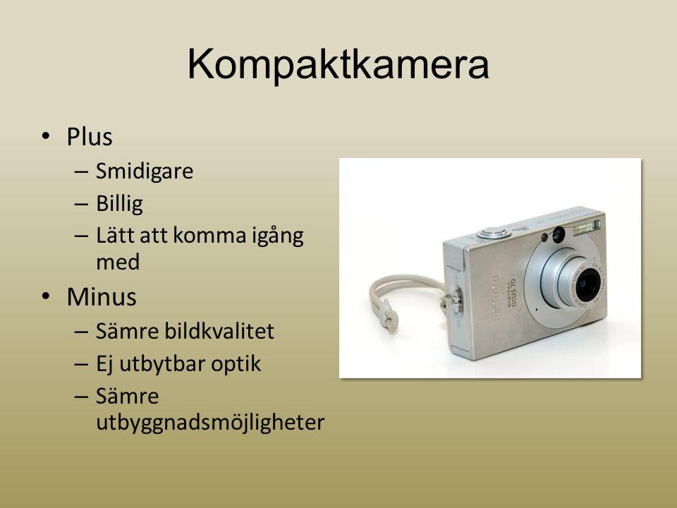 Kompaktkamera Plus Minus Smidigare Billig Lätt att komma igång med